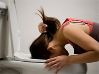 girl vomitting